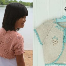 Knitted Summer Boleros for Girls with Free Patterns