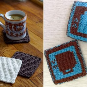 Simple Coasters for Coffee Lovers Free Knitting Patterns