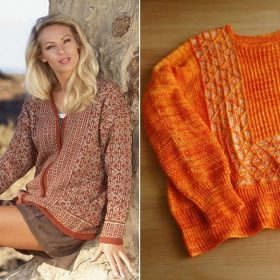 Lightweight Sweaters in Warm Shades with Free Knitting Patterns