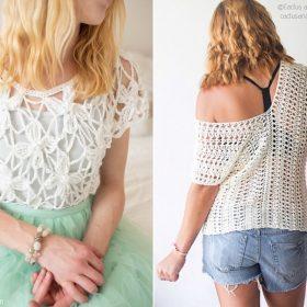 Dreamy Lace Tops Free Crochet Patterns