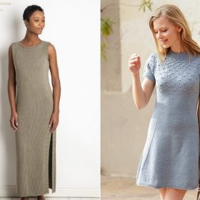 Chic Summer Dresses with Free Knitting Patterns