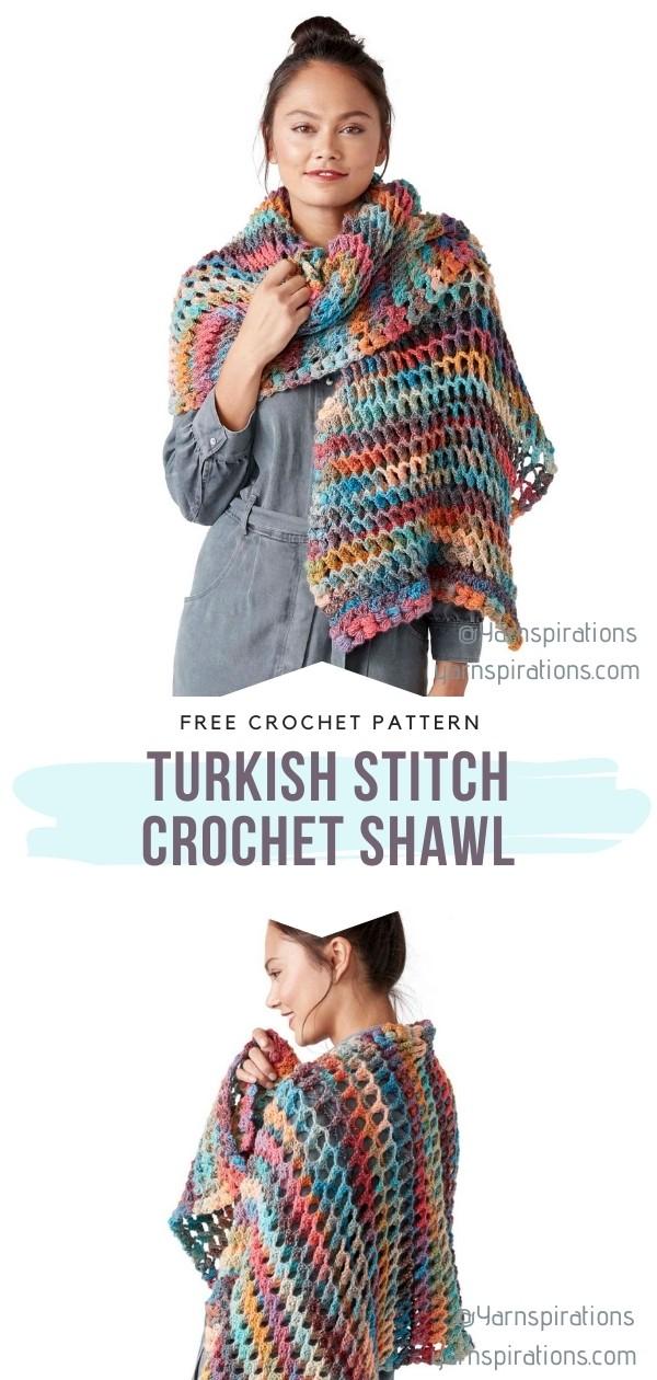 Turkish Stitch Crochet Shawl