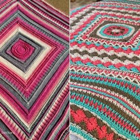 Lovely Afghans in Bright Colors with Free Crochet Patterns