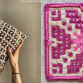 Colorful Mosaic Squares with Free Crochet Patterns