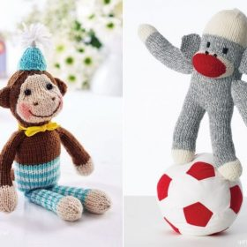 Funny Monkey Softies with Free Knitting Patterns