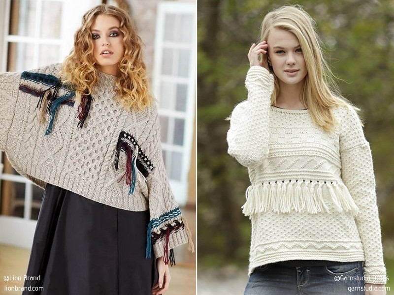 Autumn Trends - Sweaters with Free Knitting Patterns