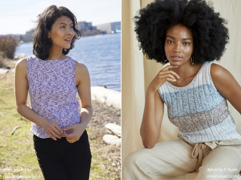 Minimalist Summer Tank Tops with Free Knitting Patterns