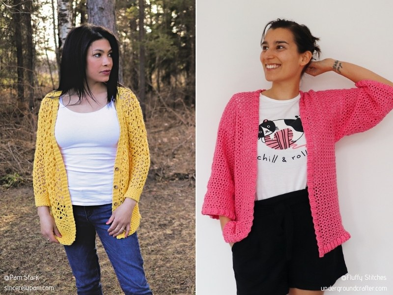 Colorul Openwork Cardigans for Summer with Free Crochet Patterns