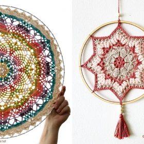 Precious Mandalas for the New Season with Free Crochet Patterns
