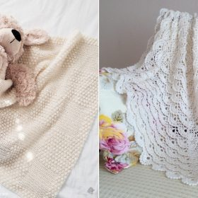 Delightful Blankets in Light Colors with Free Crochet Patterns