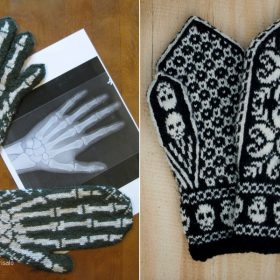 Spooky Mittens for Halloween with Free Knitting Patterns