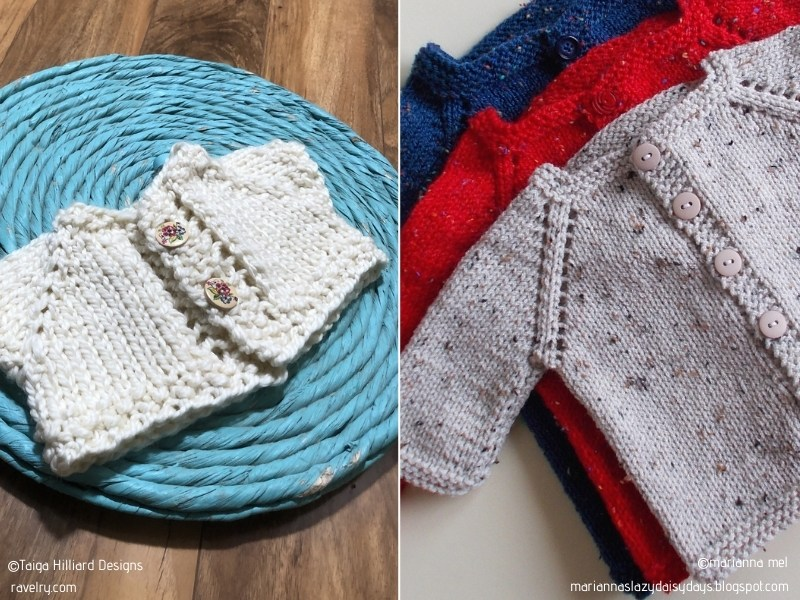 Precious Baby Cardigans with Free Knitting Patterns