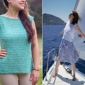 Easy Casual Tees for Summer with Free Knitting Patterns