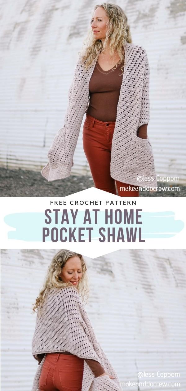 Beige Pocket Shawl