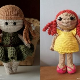 Adorable Retro Dolls with Free Crochet Patterns