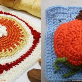 Sweet Pumpkin Squares with Free Crochet Patterns