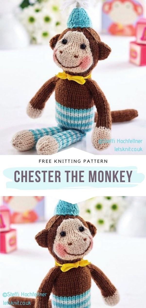 Monkey Softie Knitting Pattern