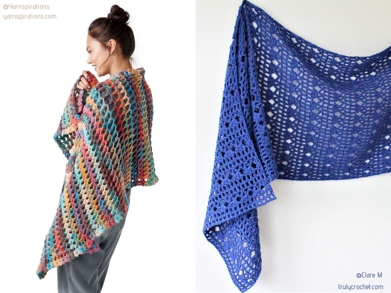 Chic and Casual Shawls with Free Crochet Patterns