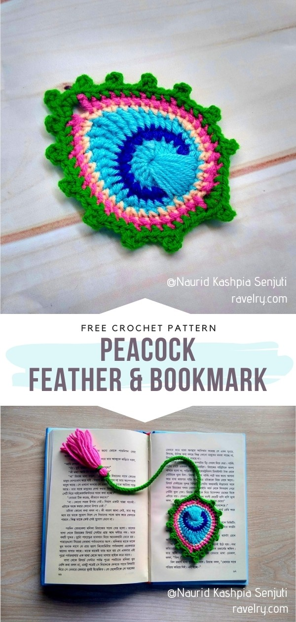 Crochet Peacock Feather