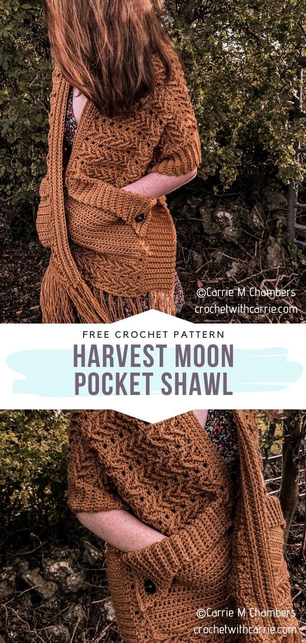 Crochet Pocket Shawl