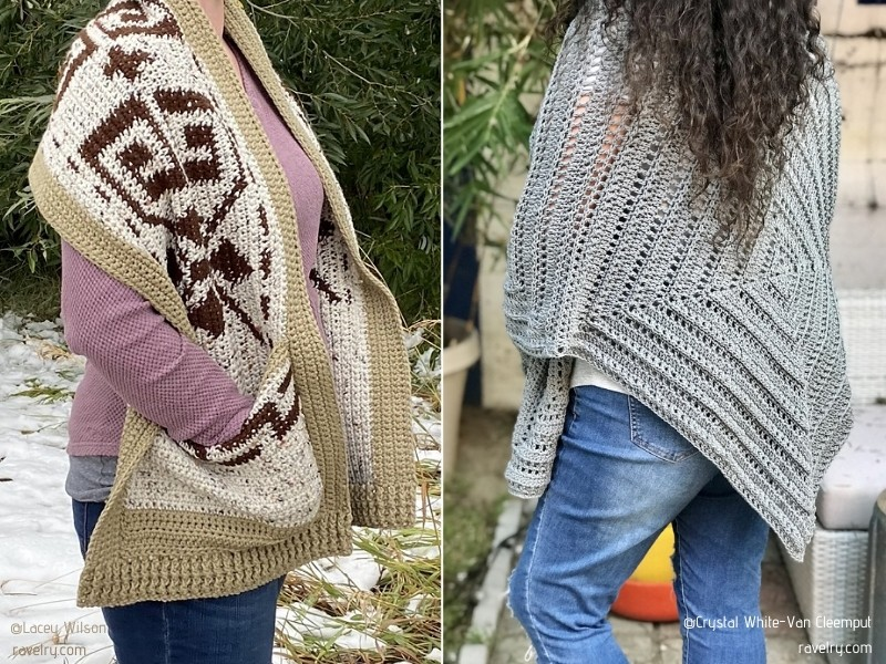 Comfy and Chic Pocket Shawls with Free Crochet Patterns