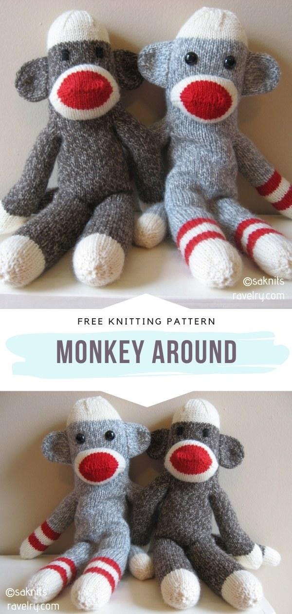 Knit Monkey Softie