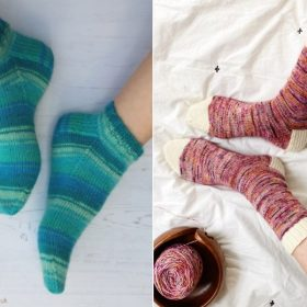 Perfect Basic Knitted Socks with Free Patterns