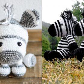 Cute Amigurumi Zebras with Free Crochet Patterns