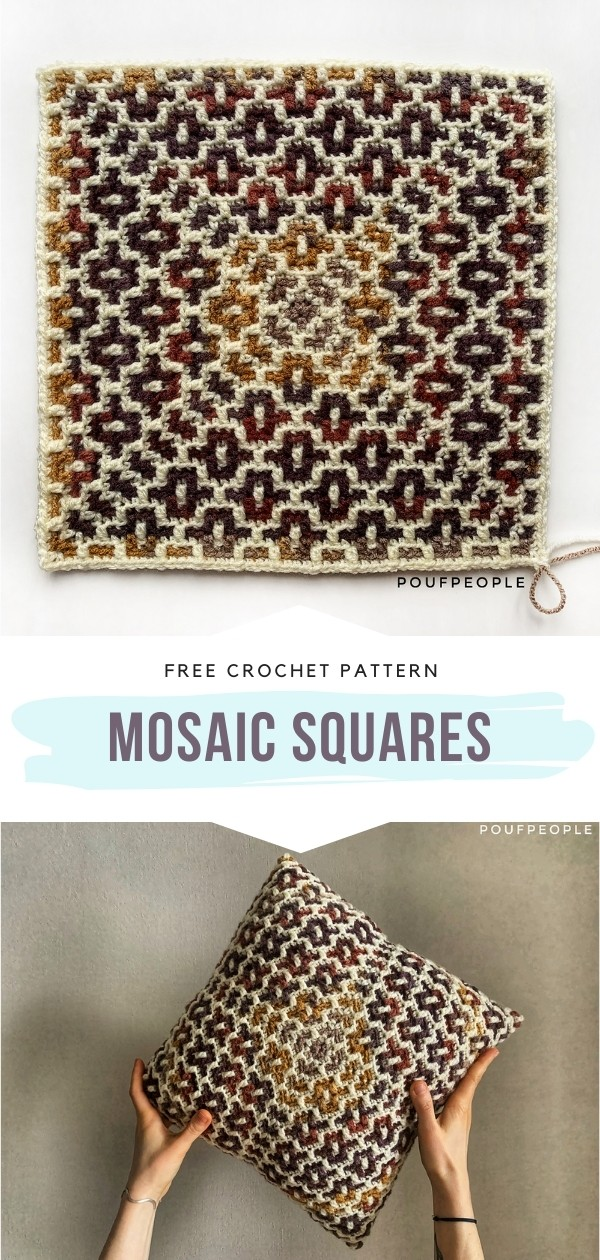 Crochet Square and Cushion