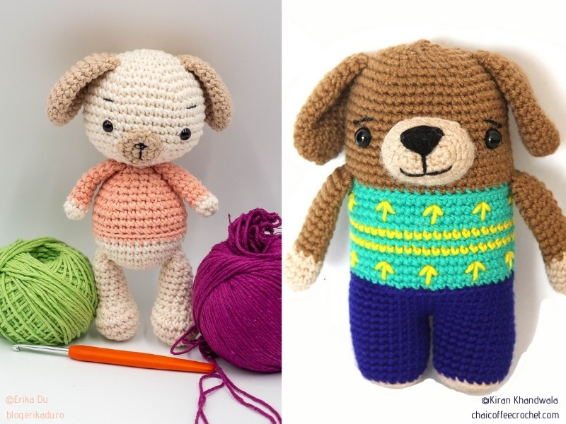 Adorable Little Dogs with Free Crochet Patterns
