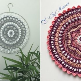 Decorative Mandalas in Cool Shades with Free Crochet Patterns