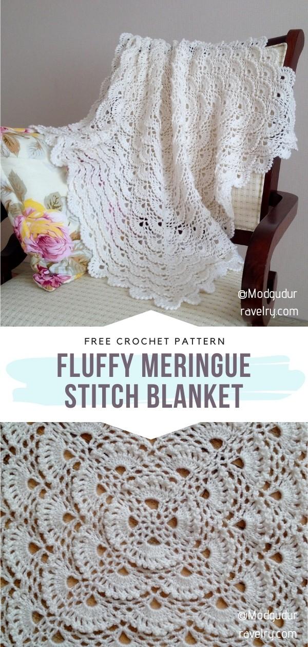 Knit Meringue Stitch Blanket