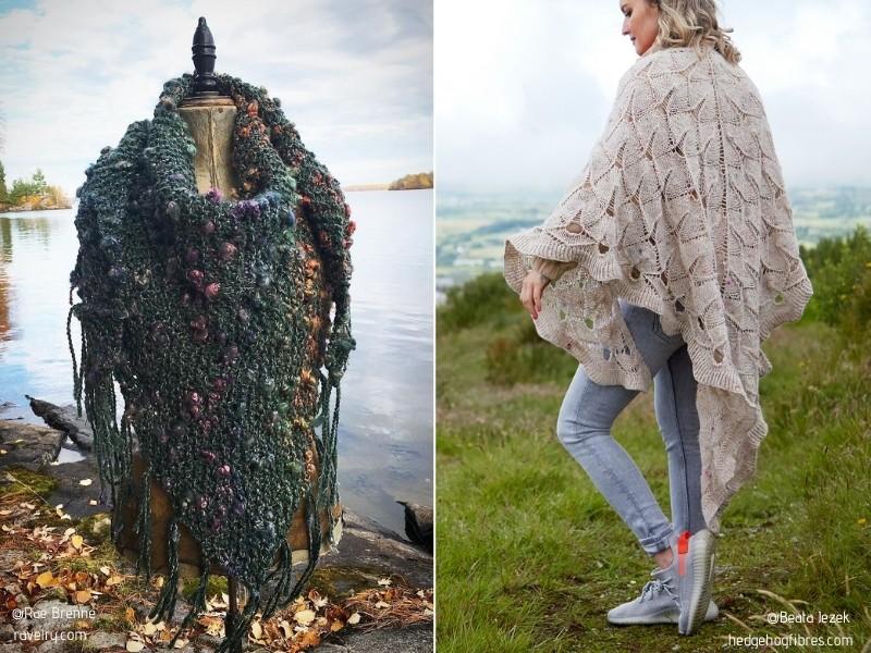Fabulosas envolturas para el otoño con patrones de tejido gratuitos