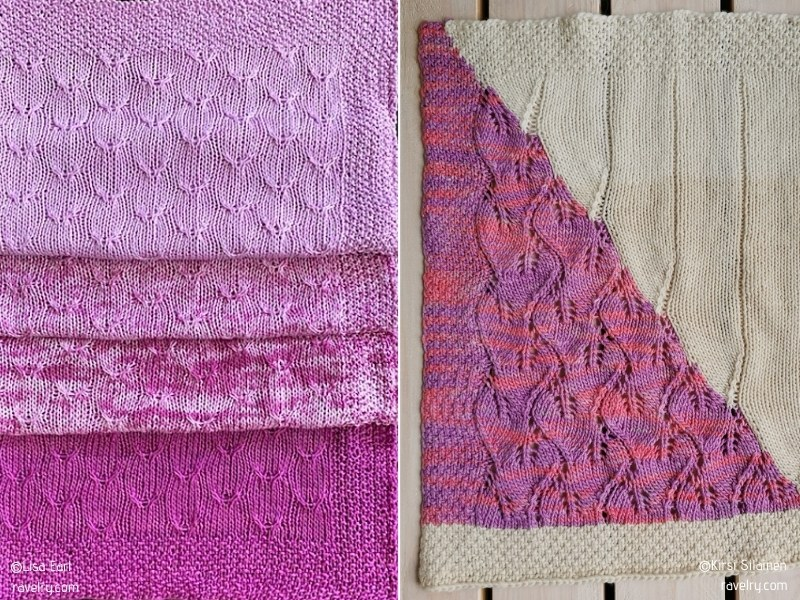 Charming and Subtle Knitted Blankets with Free Patterns