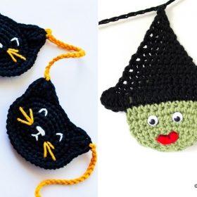 Halloween Garlands with Free Crochet Patterns