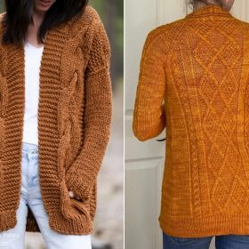 Chic Caramel Cardigans with Free Knitting Patterns