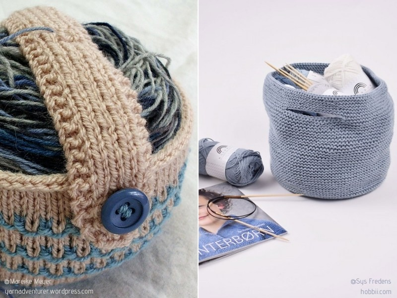 Practical Knitted Yarn Bags with Free Patterns