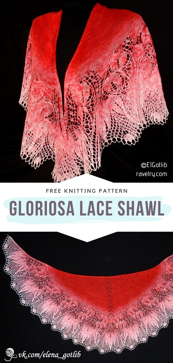 Knitted Lace Shawl