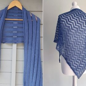 Dreamy Blue Shawls with Free Knitting Patterns