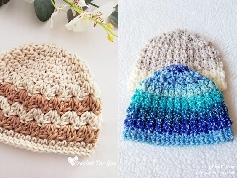 Delightful Baby Hats with Free Crochet Patterns