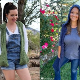 Trendy Hooded Tunics for Fall with Free Crochet Patterns