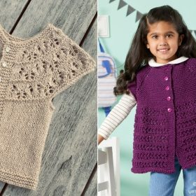Chic Cardigans for Girls with Free Knitting Patterns