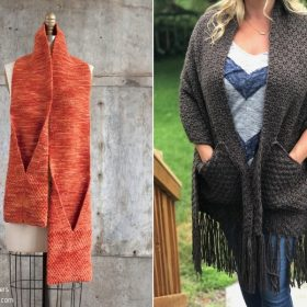 Modern Pocket Scarves with Free Knitting Patterns