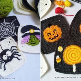 Granny Squares Halloween CAL with Free Crochet Patterns
