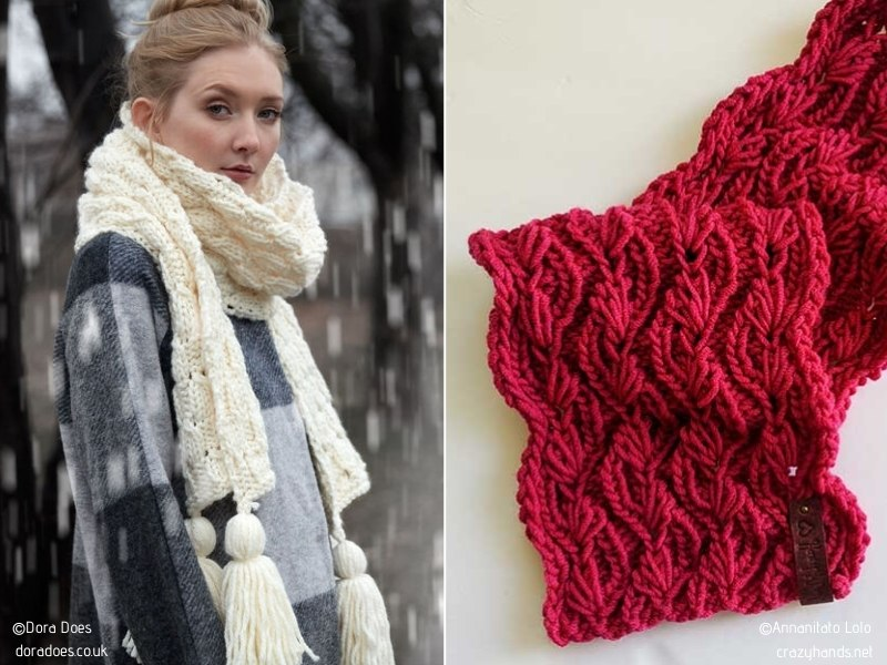 Fashion Lovers' Favorite Scarves with Free Knitting Patterns