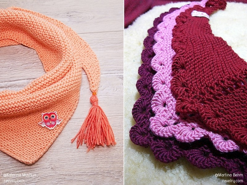 Charming Little Scarves with Free Knitting Patterns
