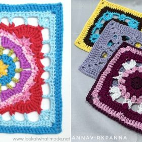 Lovely Floral Squares with Free Crochet Patterns