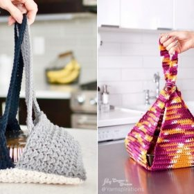 Practical Casserole Carrier with Free Crochet Patterns