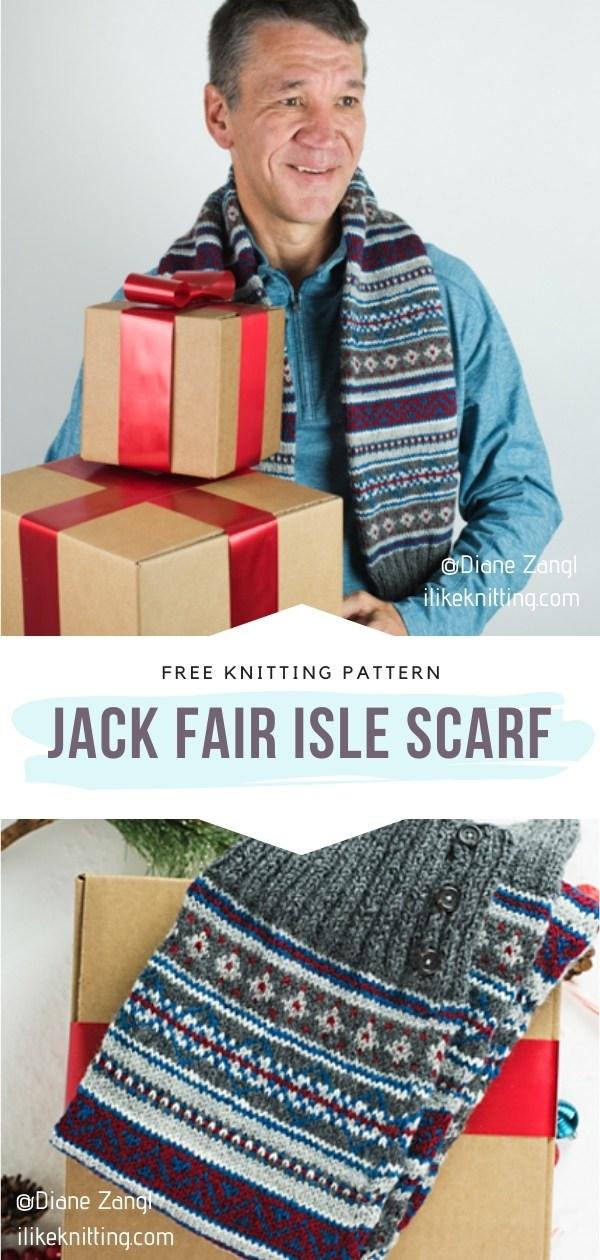 Jack Fair Isle Scarf