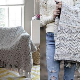 Modern Minimalist Throws with Free Knitting Pattern